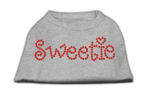Sweetie Rhinestone Shirts Grey XS (8)